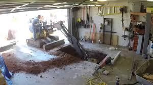underground garage storm shelter installation youtube