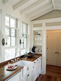 kitchen room kitchen cabinet knobs concrete countertop shower