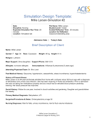 debriefing report template simulation 2 template