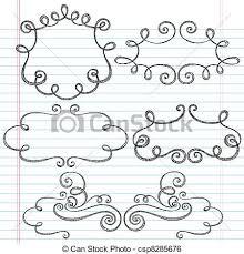 clip vector of ornamental frames sketchy doodle sketchy