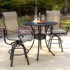 patio ideas bar height patio set with swivel chairs patio bar