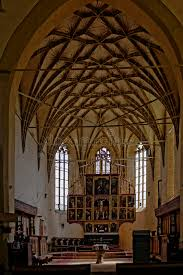 church ceilings vaulted ceiling in biertan fortified church romania stock photo