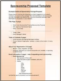 3 sponsorship proposal templates excel u0026 word templates