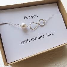 infinity bracelet love holiday gift infinity jewelry card