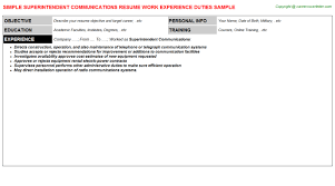 Communications Resume Sample by End User Computing Resumes Samples