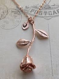 rose pendant necklace images Rose necklace in rose gold rose pendant necklace anniversary jpg