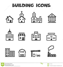 19 house plan symbols building icons stock vector image