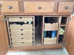 Pull Out Cabinet Shelves by Bathroom Cabinet Storage Drawers By Screwge Lumberjockscom
