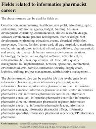 Pharmacy Resume Examples by Top 8 Informatics Pharmacist Resume Samples