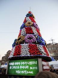 european christmas in korea in some places