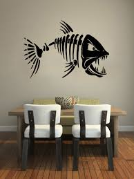 online get cheap wall quotes fishing aliexpress com alibaba group wall decal quote skeleton fish fishing removable vinyl wall stickers home decor living room decals kitchen