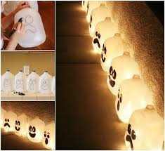 Halloween Decorations Using Milk Jugs - creative ideas diy cute tin can lanterns