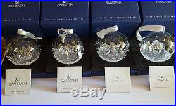 set of 4 x ornaments 2013 2014 2015 2016