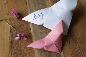 butterfly placecards wedding place cards origami place