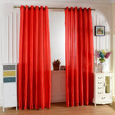 Bright Red Sheer Curtains Bright Solid Color Window Kitchen Bathroom Curtain Door Divider