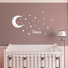 stickers étoile chambre bébé sticker prénom personnalisé ciel étoilé chambre enfants prénoms
