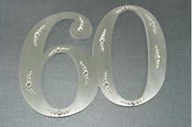 60th anniversary cake topper of 60th anniversary cake topper png