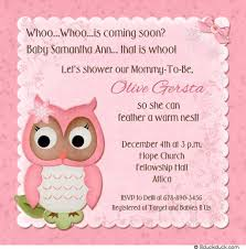 Silver Anniversary Invitation Cards Sweety Owl Baby Shower Celebration Invitation Card With Pink