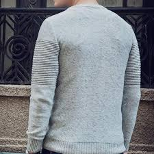 buy casual sweater 2017 new arrival o neck sleeve solid