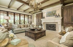 Broyhill Living Room Furniture Craftsman Living Room With Exposed Beam Carpet In Dallas Tx