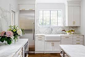 white kitchen cabinets with marble counters your guide to white kitchen countertops tasting table