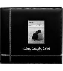 postbound album pioneer leatherette 12 x12 postbound album black live laugh