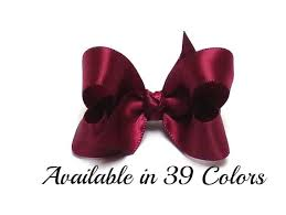 hair bows for satin hair bow burgundy hair bow baby bows hair bows