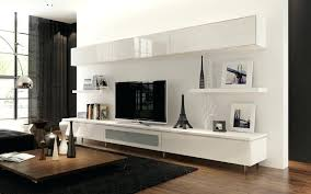 Wall Mounted Living Room Furniture Corner Media Units Living Room Furniture Cabinet White Wood Medium