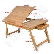 Laptop Bed Desk Tray Wooden Portable Laptop Notebook Computer Desk Table Bed Stand Work