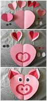 heart pig craft for kids pig crafts valentine crafts and paper