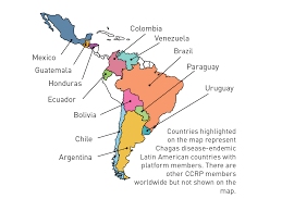 Latin America Countries Map by Chagas Platform U2013 Dndi