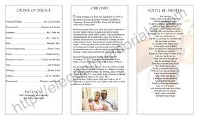 homegoing service program sample example of programs for homegoings