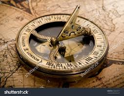 Compass Map Old Compass On Vintage Map 1752 Stock Photo 128223317 Shutterstock