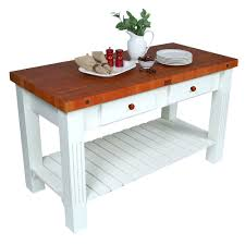 Kitchen Island With Butcher Block Top by Kitchen Islands U0026 Tables Cherry Top Kitchen Island With Painted