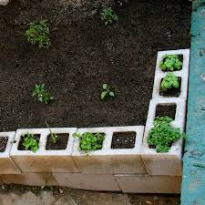 cinder block garden can use them as a fence to keep pets out