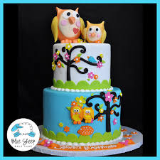 owl baby shower cake owl baby shower custom cake blue sheep bake shop
