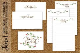 Printable Halloween Stationary Ginger Snap Crafts Floral Printable Stationary From Minted