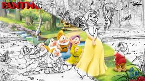 snow white dwarfs coloring book kids