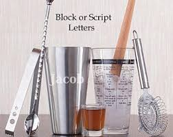 barware sets personalized barware etsy