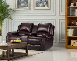 Low Leather Chair Luxury Electric Valencia 2 Seater Bonded Leather Recliner Sofa