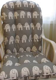 Rocking Chair Cushion Sets For Nursery Glider Or Rocking Chair Cushions Set In Grey With White