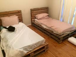 Single Frame Beds Wooden Pallet Single Beds Projects To Try Pinterest Wooden
