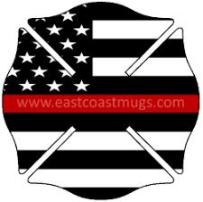 maltese cross thin line flag free shipping