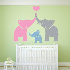 Animal Wall Decals For Nursery by Elephant Family Wall Sticker Cute Animals Wall Decal Nursery Home