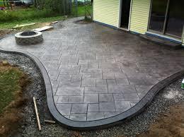 backyard stamped concrete patio ideas u2013 outdoor design