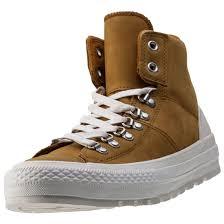 converse ctas street hiker wool mens chukka boots in tan