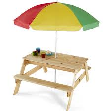 kids outdoor picnic table kids outdoor wooden picnic table bench umbrella set seats chairs