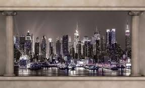 new york city skyline window view photo wallpaper mural 2867wm new york city skyline window view photo wallpaper mural 2867wm