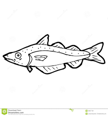 cartoon black and white fish drawing stock vector image 38057739