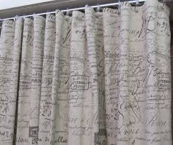 French Bathroom Decor by Shower Curtain In French Script 72x72 French Script Fabric Shop